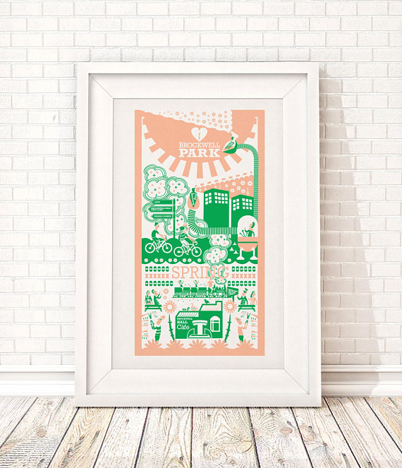 Brockwell Park print by Ray Stanbrook prints on Etsy